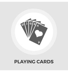 Playing Cards Flat Icon vector image