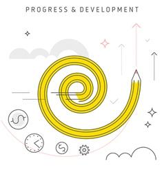 progress development vector image