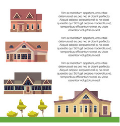 property advertising poster design with flat vector image vector image