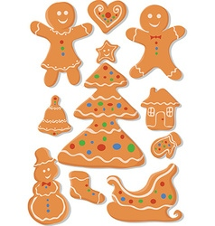 Set of Christmas Cookies vector image vector image
