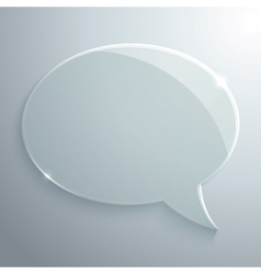 Abstract Glass Speech Bubble vector image