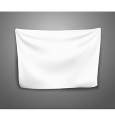 blank banner with pleats vector image