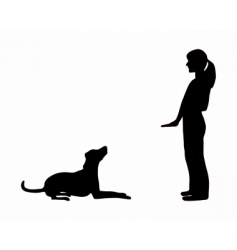 dog training obedience vector image