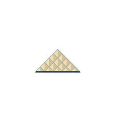 flat icon louvre museum element vector image