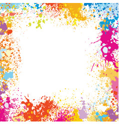 frame template made of paint stains vector image vector image