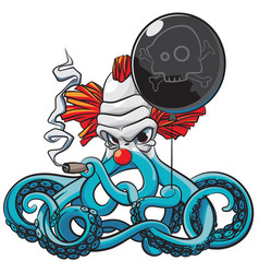 octopus the bad clown vector image vector image