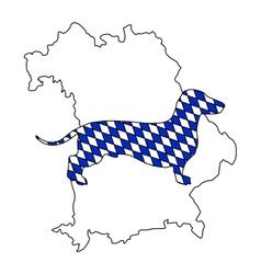 Bavarian badger vector image