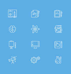 education and writing line icons collection vector image