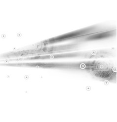 light grey abstract technology background vector image