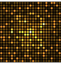 Shining Golden Dots Disco Mosaic Background vector image