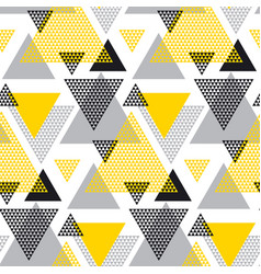 yellow and black creative repeatable motif with vector image vector image