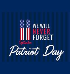 119 11 patriot day usa banner vector