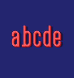 A b c d e coral 3d letters urban volumetric vector