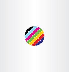 Abstract globe circle data information colorful vector