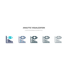 analytic visualization icon in different style vector image
