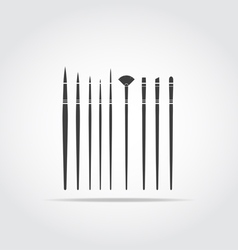 Art Brush Black Icon vector
