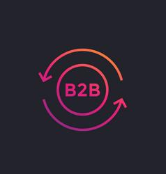 B2b marketing icon on dark vector