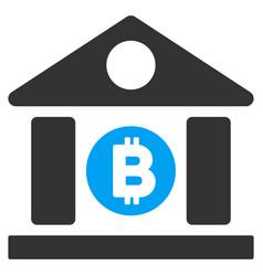 bitcoin bank building flat icon vector image