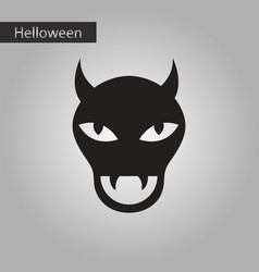 black and white style icon halloween monster vector image