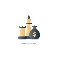 Business strategy icon budget management vector