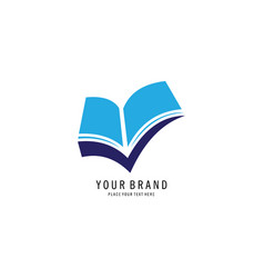 Check book symbol logo vector