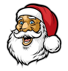 Cheerful santa claus head vector