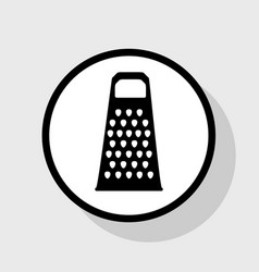cheese grater sign flat black icon in vector image