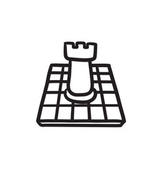 Chess sketch icon vector