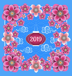 Chinese new year 2019 chinese lantern chinese vector