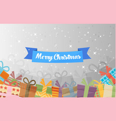 Christmas gifts in boxes vector