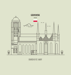Church of st mary in gdansk vector
