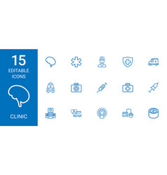 clinic icons vector image
