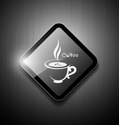 Coffee cup sign modern design vector image