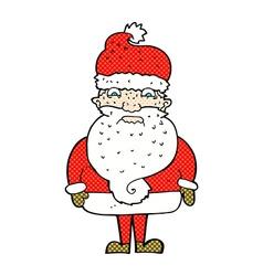Comic cartoon grumpy santa claus vector