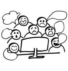 computer gossip vector image