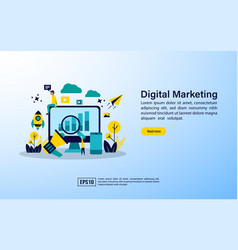 Concept for digital marketing agency digital vector