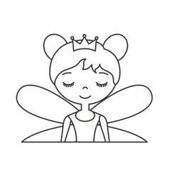 Cute Fairy Godmother character vector