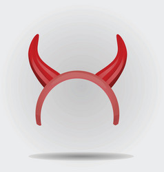 Devil horns mask vector