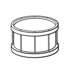 doodle classic drum vector image