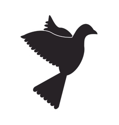 dove silhouette icon vector image