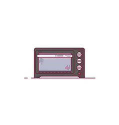Electric oven line style vector