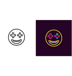 emoji gamer emoji player vector image