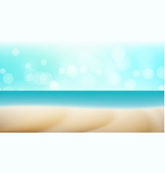 empty tropical beach background seascape vector image