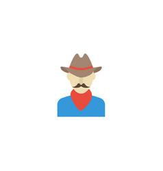 flat icon cowboy element of vector image