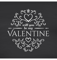 Happy Valentines Day Blackboard background vector image