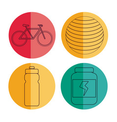 Healthy and fitness lifestyle design vector