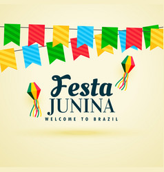 Holiday background of brazil festa junina festival vector