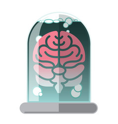 human brain in a jar abstract graphic icon vector image