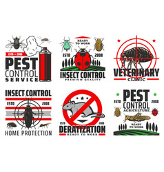 insects and pest control harvest protection vector image