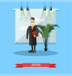 Judge in flat style vector